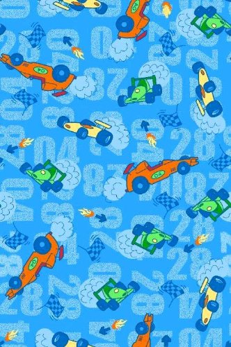 SheetWorld Fitted Pack N Play (Graco) Sheet - Race Cars Blue - Made In USA