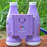 MIJORA-Kids 6x25 Outdoor Travel Folding Binoculars Telescope Magnification Toy Purple