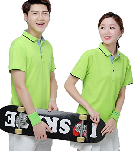BAJIAN メンズ Tシャツ 半袖 ポロシャツ トップス 修身 カジュアル シャツ ポロシャツ スポーツウェア ゴルフウェア 吸汗速乾 上着 通勤 通学 男女兼用 グリーン L