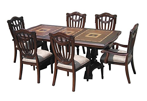 D-ART Sheraton Ext. Dining Set - in Mahogany Wood ()