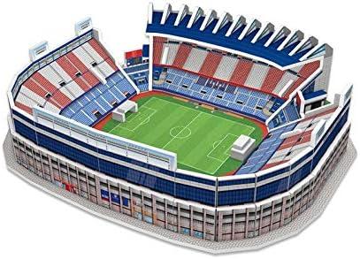 ATLETICO DE MADRID- Nanostad, Puzzle 3D Estadio Vicente Calderón Mini (Kick Off Games 1)