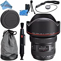 Canon EF 11-24mm f/4L USM Lens 9520B002 + Lens Cleaning Kit + Fibercloth Bundle