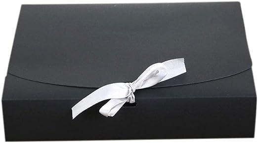 Wakerda Caja de Embalaje de Regalo Mediano Tamaño con Cinta Blanca ...