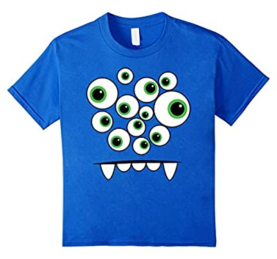 Monster Face Halloween Costume T Shirt Funny Cute Kids Gifts