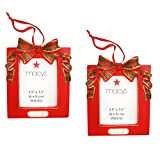 Macy's 2.5 x 3.5-in Photo Picture Frame Christmas Ornaments; 2016 (Set of 2)