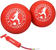GoSports Official Kickball with Pump (2 Pack), 10&