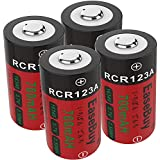CR123A Rechargeable Batteries for Arlo Camera, EaseBuy 4-Pack 700mAH 16340 RCR123A 3.7V Lithium ion Camera Batteries for Arlo (VMC3030/3200/3330/3430/3530) Wireless Security Cameras