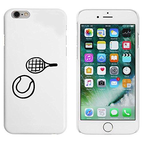 Weiß 'Tennisschläger & Ball' Hülle für iPhone 6 u. 6s (MC00051018)