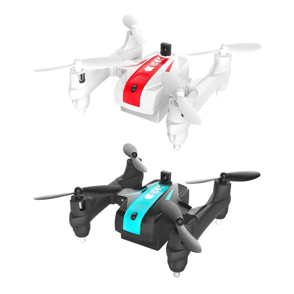 Likero Remote Control Drone AG-03S Foldable 720P Quadcopter,Headless 360 Mini Aircraft Battle Flips (Quadcopter (with Battery) x2) by Likero (Image #8)
