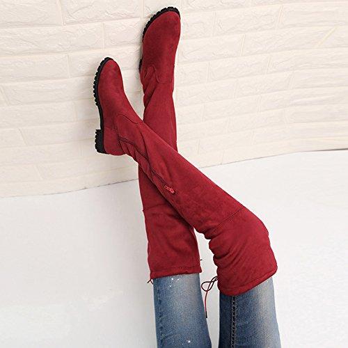 41 Chaussure Sexy Confort Botte 42 Cuissarde Hiver wealsex Grand Femme 43 Souple Automne Plate Large Taille Elastique 40 Mollet f4xaw8g