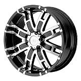 Helo HE835 Gloss Black Machined Wheel - (20x9'/6x5.5')