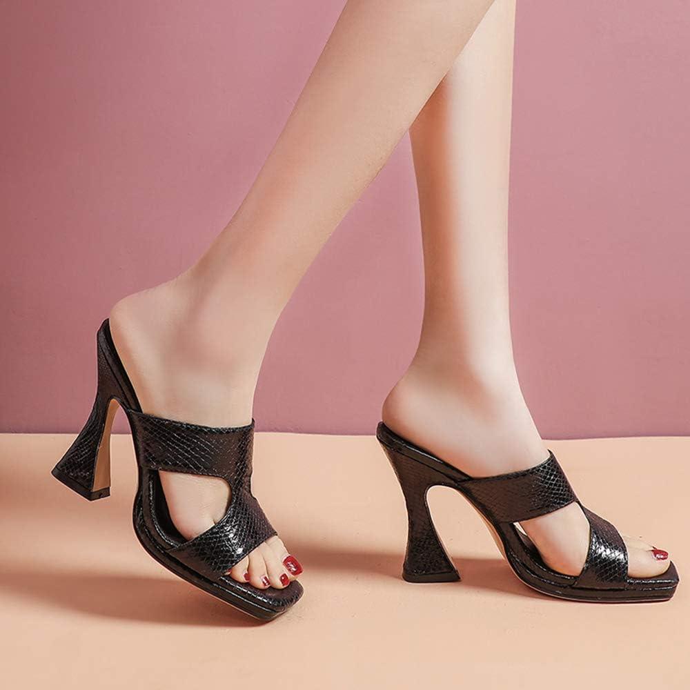 Lydee Moda Mulas Ponerse Mujer Verano Zapatos Negro 1