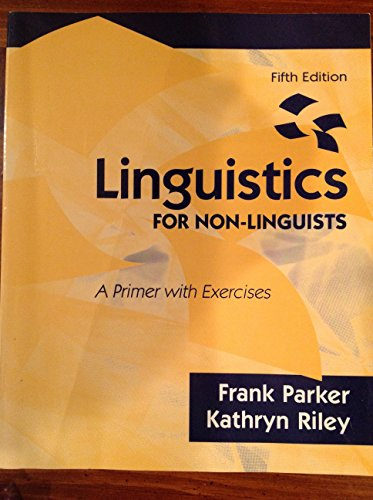 Linguistics For Non Linguists