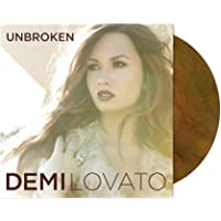 Demi Lovato Unbroken Limited Tan And Forest Green Ghost Effect Colored Vinyl Record LP Album