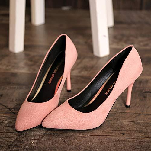 Femmes chaussures Femme Des À Loisirs Escarpins Souligné Rose Ont Talons Chaussures De les Bas Hauts BwpEa