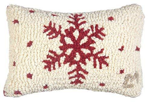 Chandler 4 Corners Red Flake Snowflake on White 8