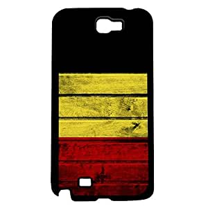Belgium Flag Black Gold and Red Tricolor Bands Wood Pattern Hard Snap on Phone Case Cover Samsung Galaxy Note 2 N7100 by lolosakes