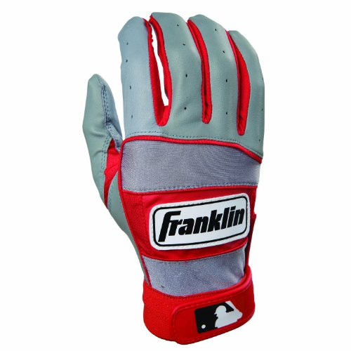 MLB Youth NEO-100 Batting Glove Color: Grey / Red, Size: Large by Franklin Sports