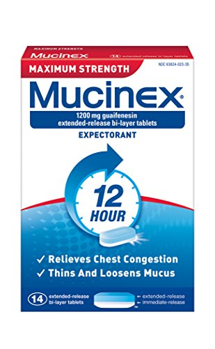 Mucinex SE 12 Hr Max Strength Chest Congestion Expectorant Tablets, 14ct