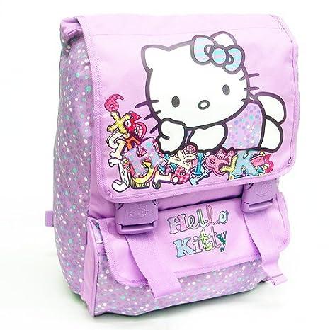 e3490b3c6b62b7 Hello Kitty- Zaino Basic, Colore Purple: Amazon.it: Giochi e giocattoli