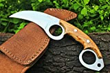 DKC Knives (6 5/18) SALE DKC-87 OWL FOX D2 Steel Skinner Hunting Knife 8″ Long 6.2oz High Class Looks Incredible Feels Great In Your Hand And Pocket Hand Made Review