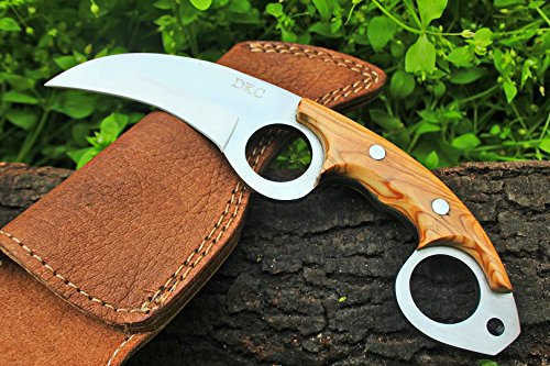 DKC-87-OWL-FOX-D2-Steel-Skinner-Hunting-Knife-8Long-62oz-High-Class-Looks-Incredible-Feels-Great-In-Your-Hand-And-Pocket-Hand-Made-DKC-Knives
