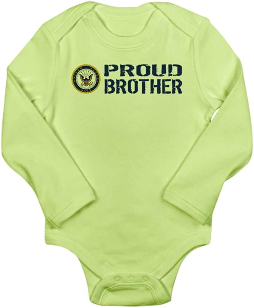 CafePress U.S Navy Proud Broth Baby Bodysuit