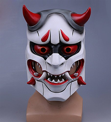 Gmasking 2017 Overwatch Genji's Oni Evil Ghost Cosplay Mask - Import It All