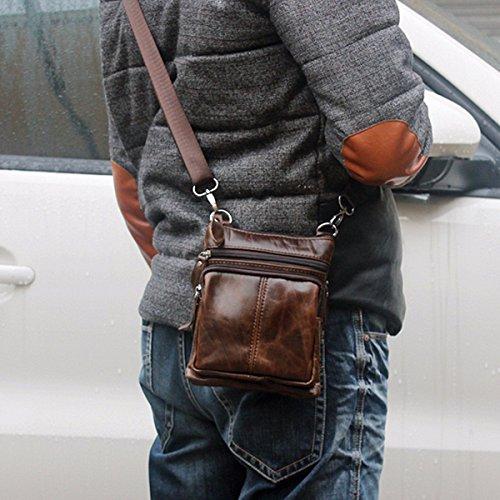 34a54261241a OURBAG Casual Men Vintage Shoulder Bag Messenger Crossbody Bags Handbag  Coffee