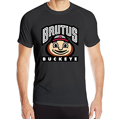 Duola Men's Ohio State University Columbu Short Sleeve Sports New Style Tshirts Black M (Tupac License Plate Frame compare prices)