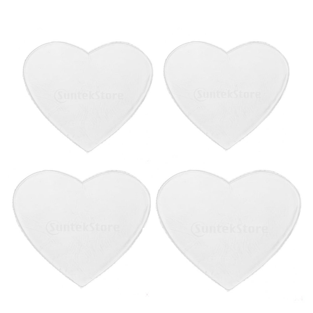 MagiDeal 4x Reusable Silicon Anti-Wrinkle Pad Decollete for Chest Wrinkles Heart Transparent