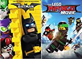 Small Yellow Brick By Brick: The Lego Batman Movie & The Lego Ninjago Movie DVD Double Feature Bundle