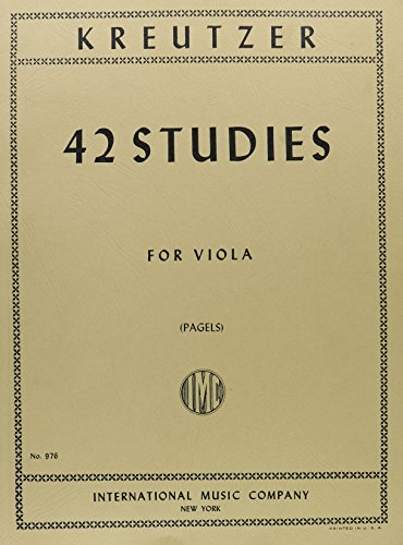 Kreutzer, Rodolphe - 42 Studies - Viola solo - transcribed by L Pagels - International Music Co ()