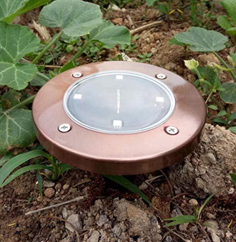 4led kupferfarbenes Solar-Untergrundlicht, Solar-Untergrundlicht - Weißes Licht