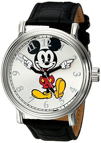 Disney Men's W001850 Mickey Mouse Analog Display Analog Quartz Black Watch