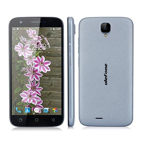 Ulefone U007 Pro 5.0 Zoll Android 6.0 4G-Smartphone 1.0GHz Quad Core Dual SIM Handy ohne Vertrag 1G RAM + 8G ROM 2.0 MP + 8.0 MP Dual Kamera Corning Gorilla 3 HD Screen GPS WiFi Grau