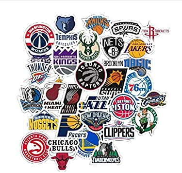 YLGG Marca Baloncesto NBA Logo Pegatinas para Equipaje Maleta ...