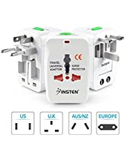Insten Universal World Wide Travel Charger Adapter Plug For LG G6, Samsung Galaxy S8 / S8+ S8 Plus, White