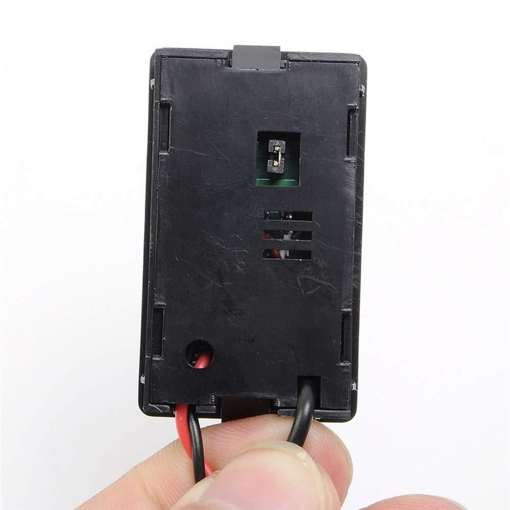 Temperature Sensor Module 0.28 Inch Red Digital Display Thermometer Temperature Meter Detector Module With NTC Metal Waterproof Probe Temperature Sensor