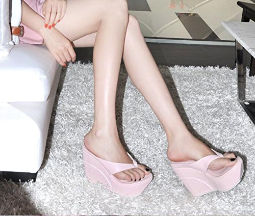 Cold Slippers Slope AGECC Pink Thick High Pinch Heel Bottom With qw0xFf8