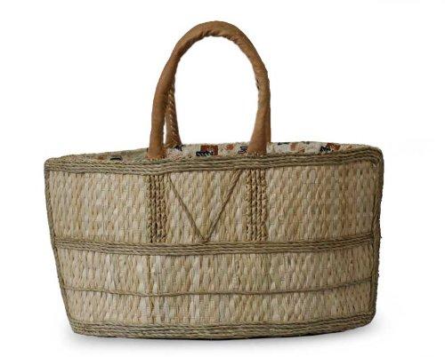 NOVICA Beige Natural Fiber Handbag, 'Market Basket' by NOVICA
