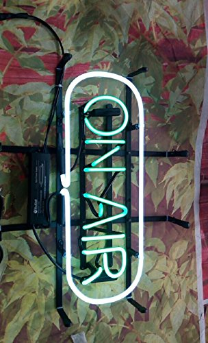 Neon Light Sign Metal Frame ON AIR Handcrafted glass tube neon sign 15(w)insx10(h) ins Neon Sign Lights Beer Bar Pub sign Windows Glass Wall Signs by FINEON