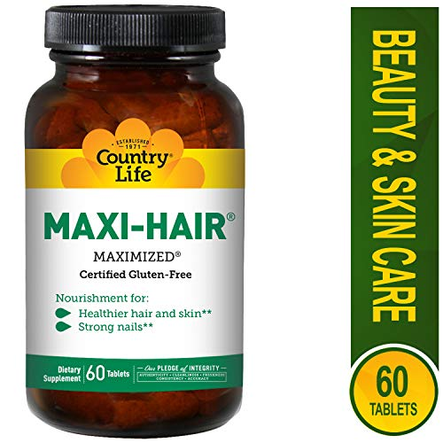 Country Life - Maxi-Hair Time Release - 60 Tablets (Pack of 2)