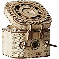 ANEAR Laser Cut Treasure Box 3D Wooden Puzzle - Brain Teasers Model Kits for Adults - Mechanical Construction Model…