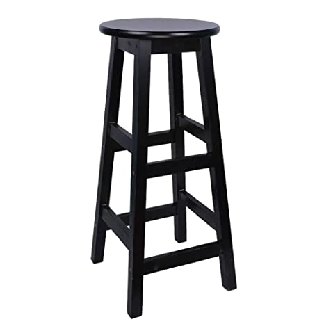 Sensational Amazon Com Modern Wooden Bar Stool High Stool And Round Uwap Interior Chair Design Uwaporg