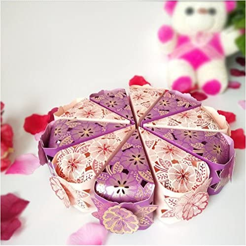 Pink Dproptel 50pcs Elegant Pearl Paper Gift Candy Boxes Cake Style Wedding Boxes Party Favour Candy Gift Boxes For Christmas New Year Parties Baby Shower