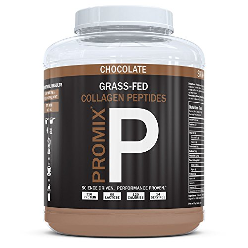 PROMIX Collagen Peptides Protein Powder, Pasture-Raised Grass Fed Hydrolysate | Chocolate, 1lb | Keto, Non GMO, Gluten Free, Natural, Organic, Hydrolyzed | For Healthy Skin, Bones, Hair and Joints