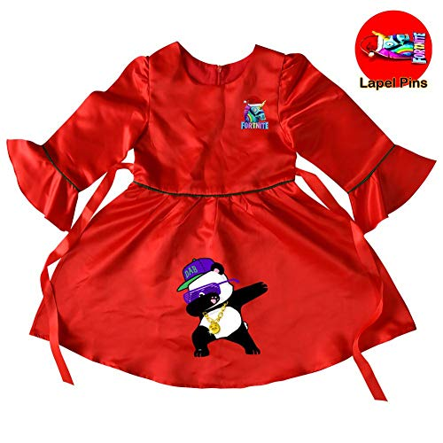 Baby Girls Panda Princess Christmas Dress up for Toddler Party Fancy/Formal Costume Gowns 8-9 Years