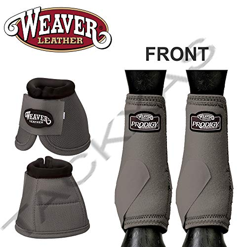 Weaver Large PRODIGY Horse Front Neoprene Athletic Sports Bell Boots Steel ()