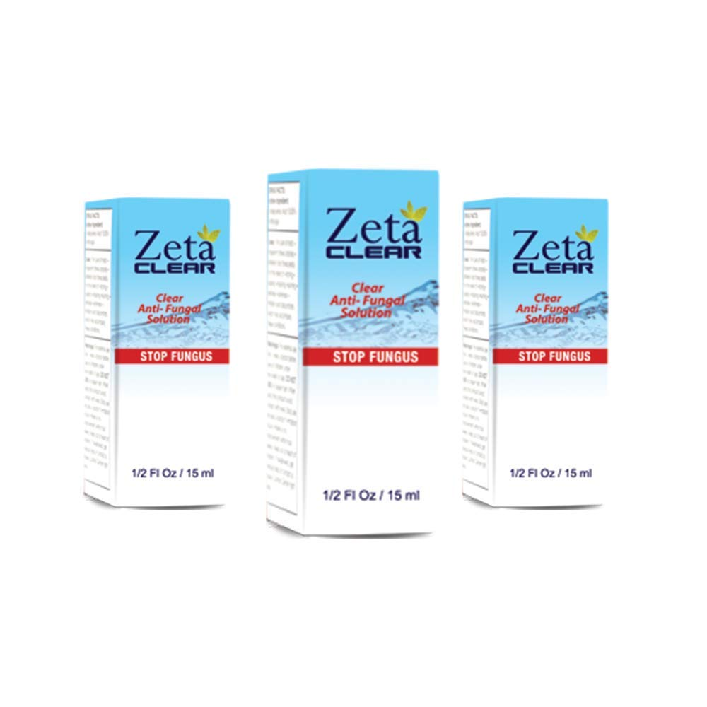 Zeta Clear, Fungal Treatment with New Improved FDA Approved and Clinically Proven Formula - 3 Pack by Zeta Clear